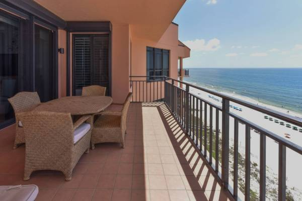 view of the gulf of mexico from seachase resort patio