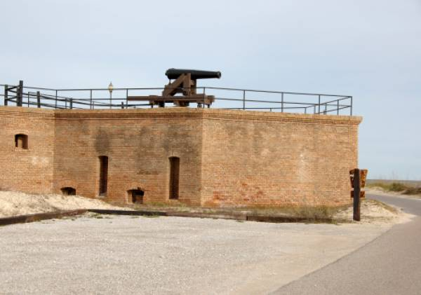 cannon at fort gaines historical park in orange beach alabama