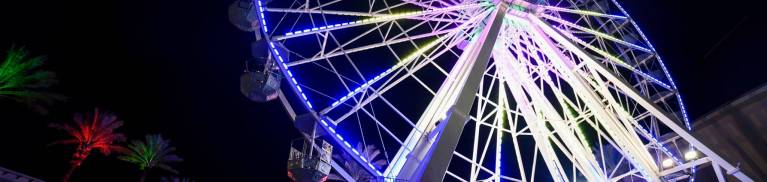 ferris wheel at the wharf in orange beach alabama